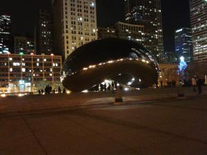 Cloud Gate (please don't call it The Bean!) is mesmerizing in the evening when there are few people around.